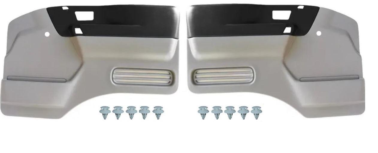 Par forro porta VW 5140 8120 8150 9150 10160 cinza com preto